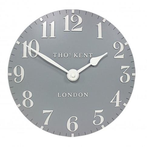 "Thomas Kent 20"" Arabic Wall Clock, Flax Blue"