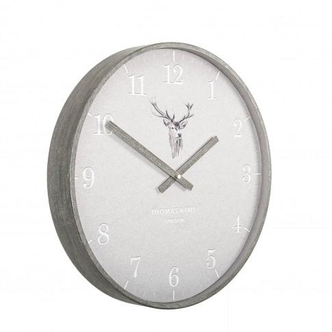 """Thomas Kent 16"""" Crofter Stag Wall Clock"""