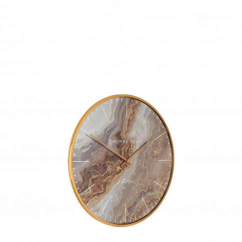 "Thomas Kent 16"" Oyster Wall Clock, Bronze"