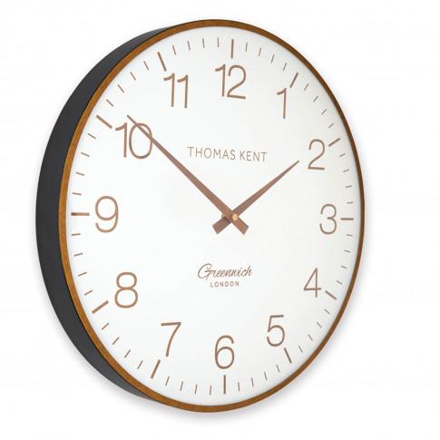 "Thomas Kent 21"" Greenwich Club Wall Clock, Brass"