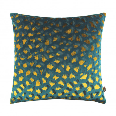 Scatter Box Harlow Cushion, 43 X 43cm, Teal/Gold