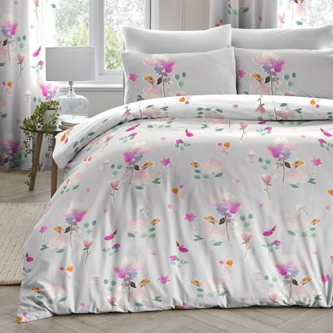 Dreams & Drapes Jessica Duvet Set, Single, Pink
