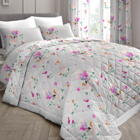 Dreams & Drapes Jessica Quilted Bedspread, Pink