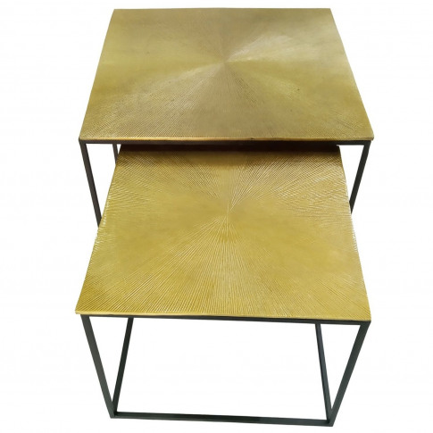 Casa Apollo Square Nest Of Tables - Gold