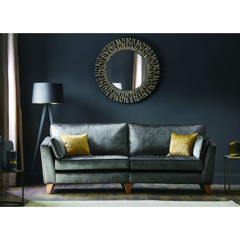 Casa Viscount 3 Seater Fabric Sofa