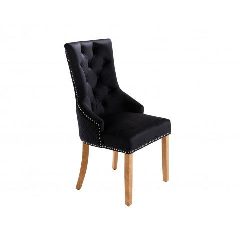 Sandhurst High Back Dining Chair In Black Velvet Wit...