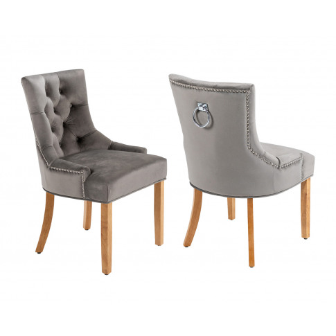Verona Scoop Back Velvet Dining Chairs In Grey With ...