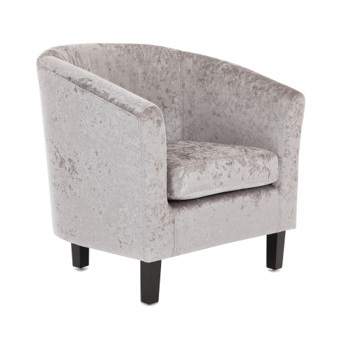Winchester Occasional Armchair In Silver Crushed Velvet