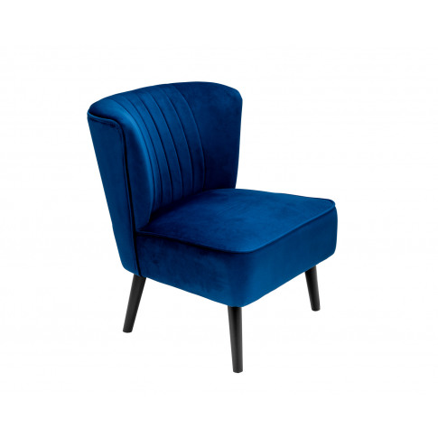 Lucy Oyster Accent Chair In Royal Blue Velvet With B...