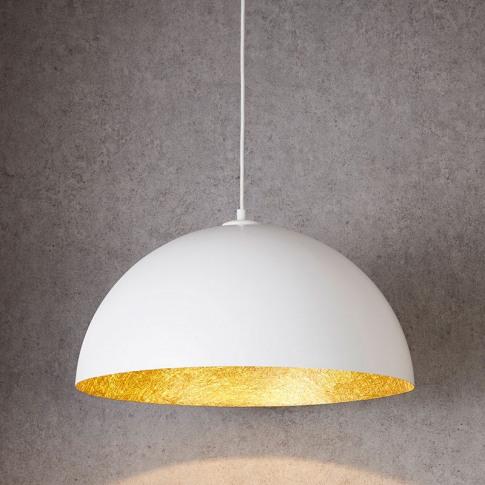 Edit Rondure Large Ceiling Pendant Light - 500mm Whi...