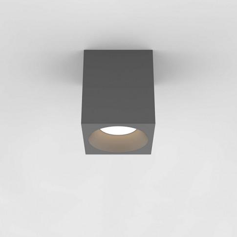 Astro Kos 140 Square Led Ceiling Spotlight - Textured Grey