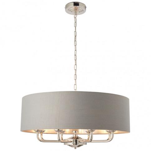 Endon Highclere 8 Light Ceiling Pendant Light - Char...