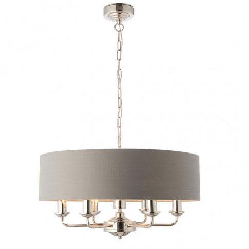 Endon Highclere 6 Light Ceiling Pendant Light - Char...