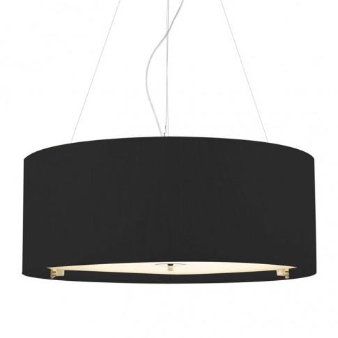 Dar Zaragoza 6 Light Black Ceiling Pendant Light - 9...