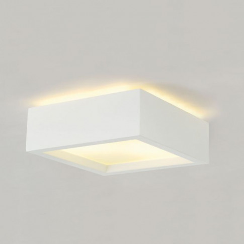 Slv Plastra Square Plaster Flush Ceiling Light