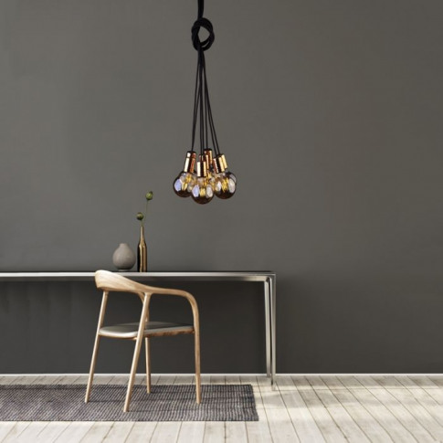 Edit Cable Cluster Ceiling Pendant Light - Black And...