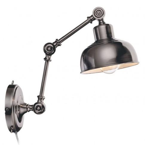 Grimstad Adjustable Wall Light With Plug - Antique S...