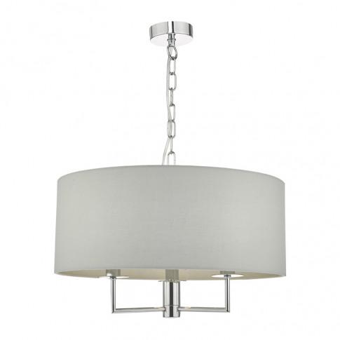 Dar Jamelia 3 Arm Ceiling Pendant Light - Grey