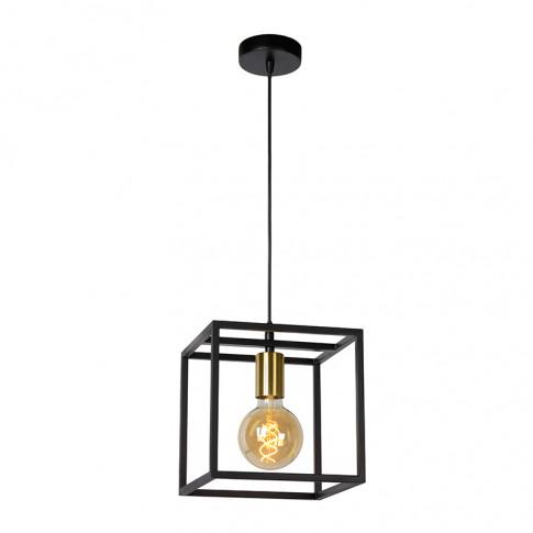Lucide Ruben Ceiling Pendant Light - Black & Gold