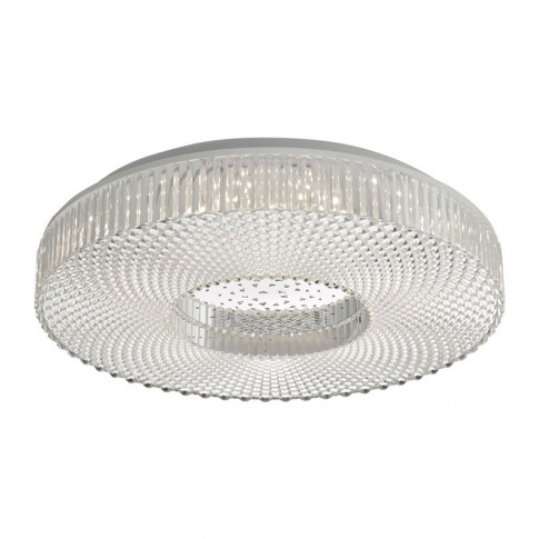 Dar Cimona Led Flush Ceiling Light - Clear