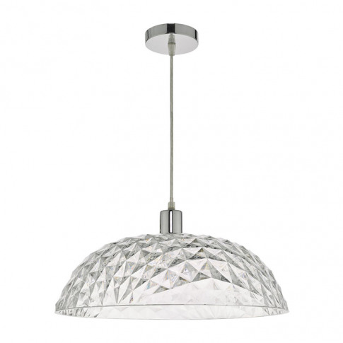 Dar Large Tobin Ceiling Pendant Shade - Clear