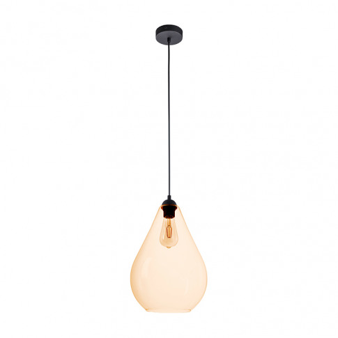 Edit Egg Glass Ceiling Pendant Light - Amber