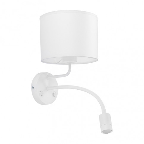 Edit Basic Wall Light With Reading Light - White