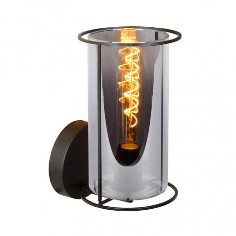 Lucide Dounia Glass Wall Light - Smoked