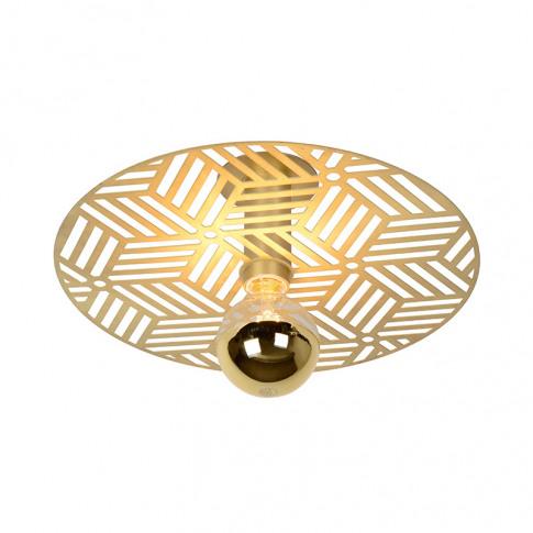 Lucide Olenna Semi-Flush Ceiling Light - Gold