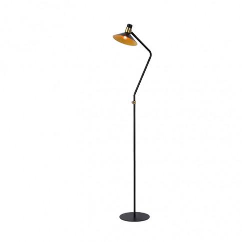 Lucide Pepijn Floor Lamp - Black & Gold