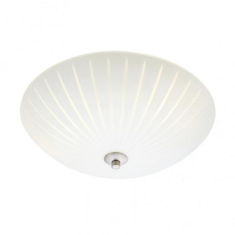 Cut 35 Glass Flush Ceiling Light - White