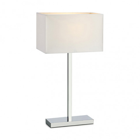 Savoy Table Lamp With Usb Charging Port - Chrome
