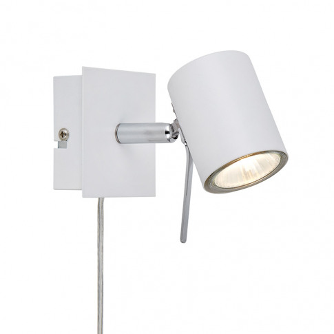 Hyssna Led Wall Spotlight With Plug - White