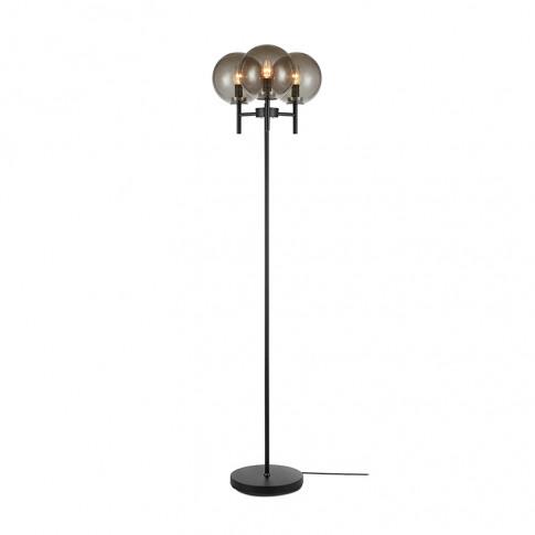 Crown 3 Light Floor Lamp - Black