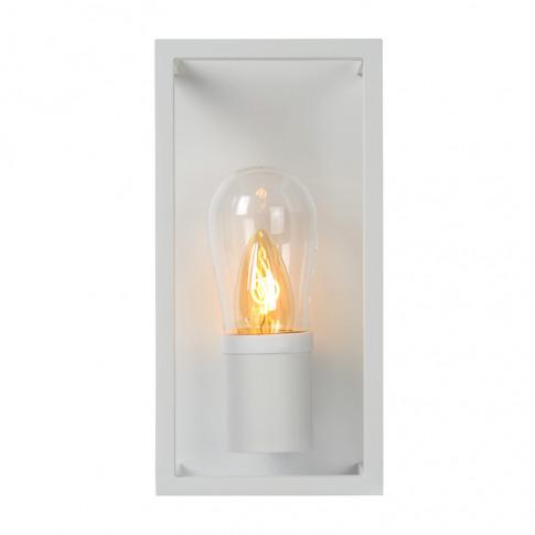 Lucide Carlyn Half Lantern Flush Wall Light - White