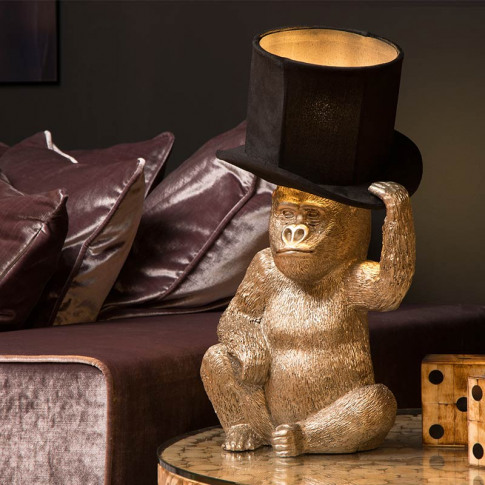 Lucide Extravaganza Gust Table Lamp - Black & Gold