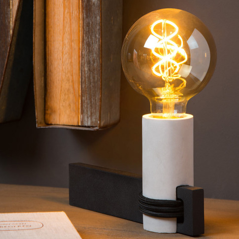 Lucide Tanner Concrete Table Lamp - Black