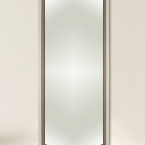 Aurora Faceted Full Length Glass Wall Mirror