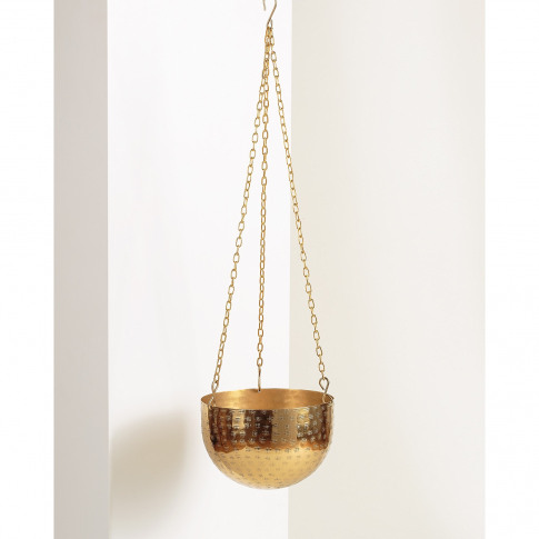 Gold Metal Hanging Planter