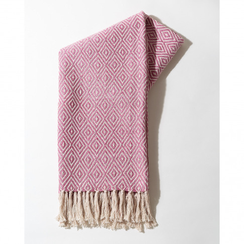 Dos Recycled Cotton Pink Throw