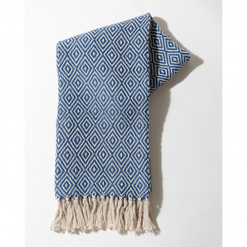 Dos Recycled Cotton Blue Throw