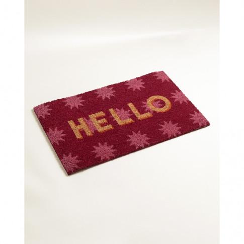 Hello Pink Doormat