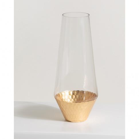 Honeycomb Gold Vase Tall