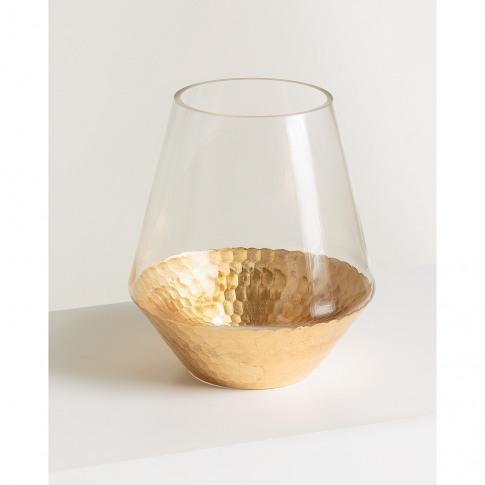 Honeycomb Gold Vase Small