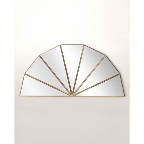 Pin Wheel Gold Semi Circle Mirror