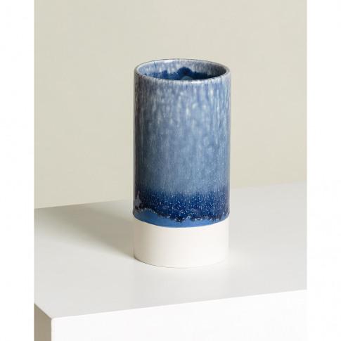 Bu Navy Ceramic Vase