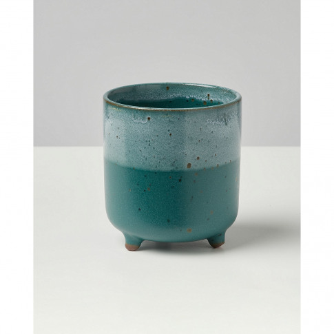 Agave Teal Terracotta Footed Plant Pot Extra Small