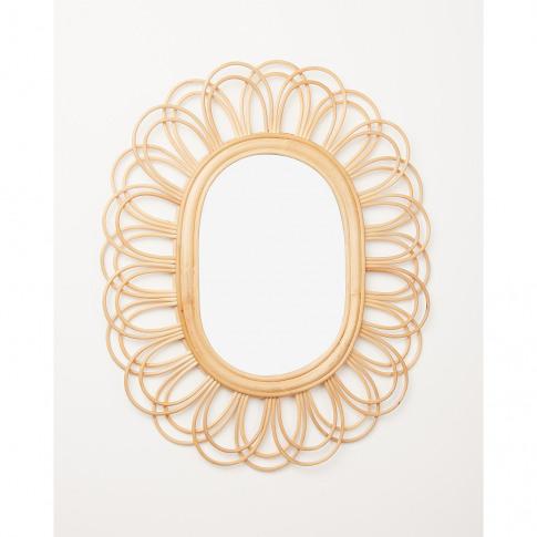 Kotak Natural Rattan Mirror Medium