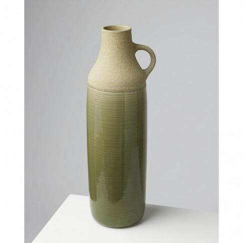 Seco Green Earthenware Vase