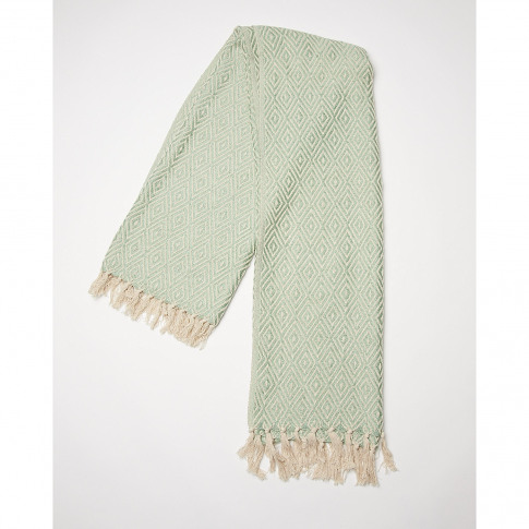 Dos Recycled Cotton Duck Egg Blue Throw